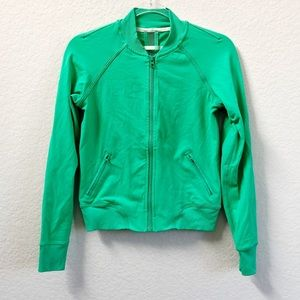 Lululemon Om Me Home Jacket Zip Up Green Sz 4